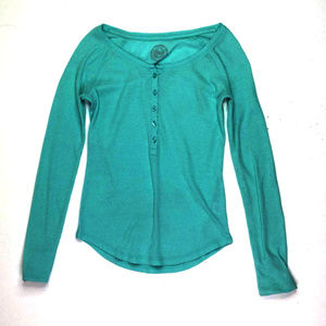 So Womens Button Up Long Sleeve Shirt Blouse Small